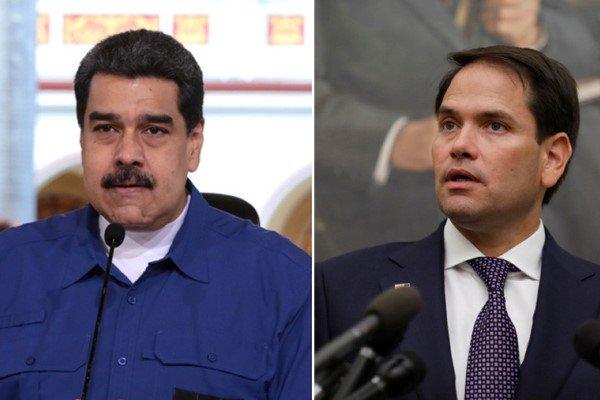 مارکو روبیو و نیکلاس مادورو