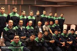 حضور تاج در جلسه با تیم ملی فوتسال