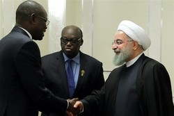 Iranian President Hassan Rouhani meets with Speaker of the Senegalese Parliament Moustapha Niasse