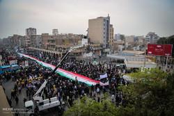 تصویر حضور مردم در ۲۲ بهمن با کواد کوپترهای شبکه یک