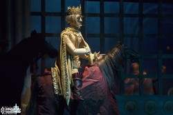 "A scene from the ""Macbeth"" opera puppet show by Iranian director Behruz Gharibpur"