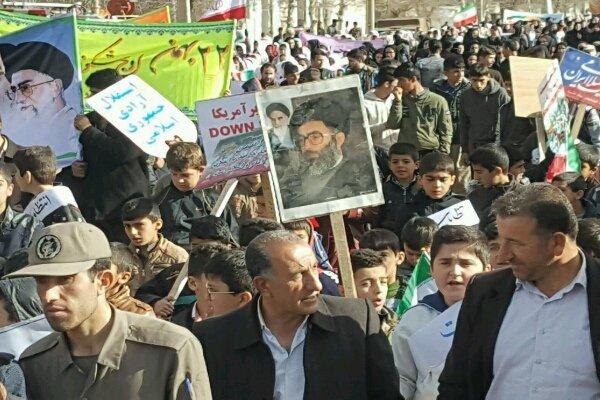 جشن پیروزی انقلاب در شهرهای کانکسی استان کرمانشاه