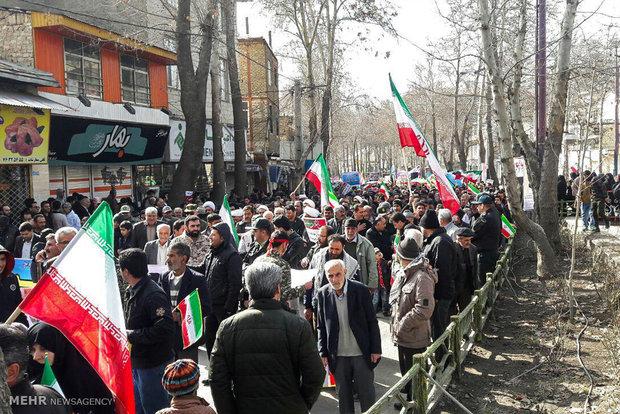 راهپیمایی یوم الله ۲۲ بهمن در دماوند / شمیم علاالدینی