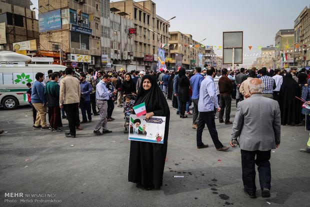 راهپیمایی یوم الله ۲۲ بهمن در اهواز