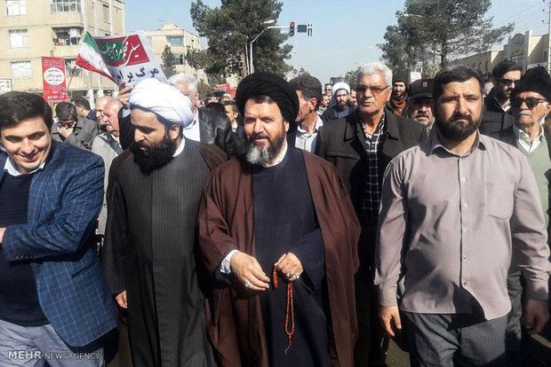 راهپیمایی یوم الله ۲۲ بهمن در اسلامشهر - محمدتقی فاضلی