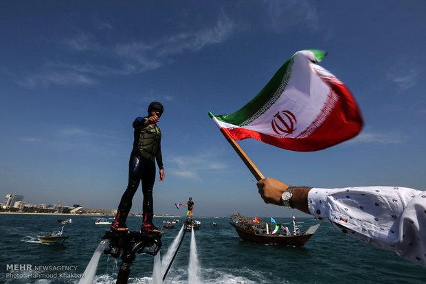 راهپیمایی یوم الله ۲۲ بهمن در جزیره کیش