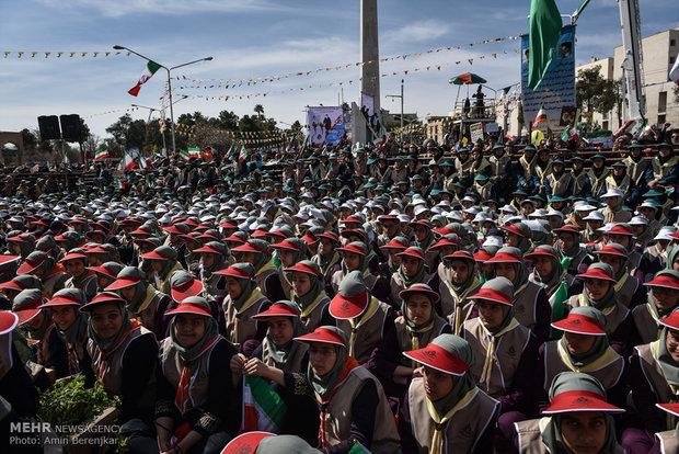 راهپیمایی یوم الله ۲۲ بهمن در شیراز