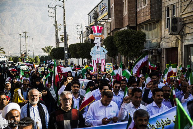 راهپیمایی یوم الله ۲۲ بهمن در عسلویه