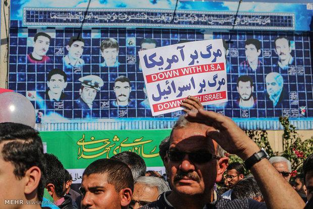 راهپیمایی یوم الله ۲۲ بهمن در لارستان - علی یگانه لاری