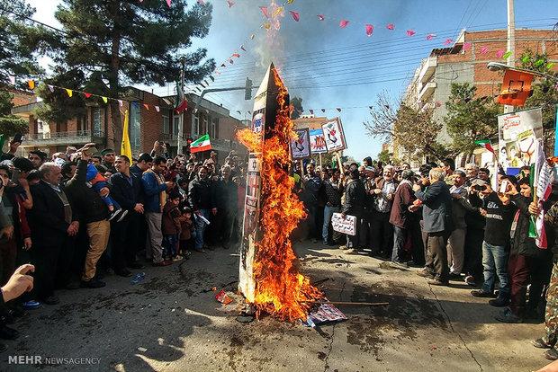 راهپیمایی یوم الله ۲۲ بهمن در گنبد کاووس