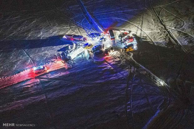 Rusya'daki uçak kazasından son fotoğraflar