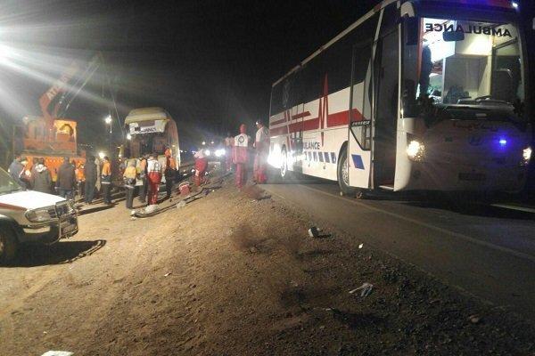 واژگونی اتوبوس محور فردوس- طبس