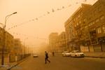 هوای کرمانشاه در وضعیت هشدار قرار گرفت/کاهش غلظت غبار