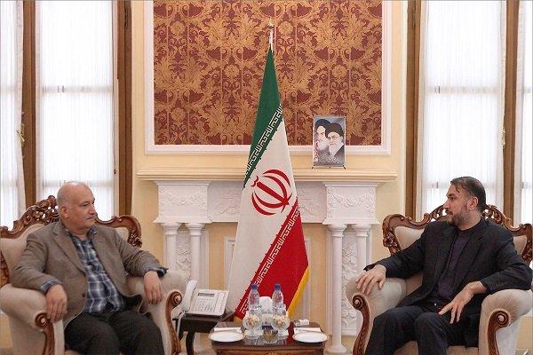 امير عبد اللهيان يلتقي مع رئيس الحزب الديمقراطي الاذربيجاني