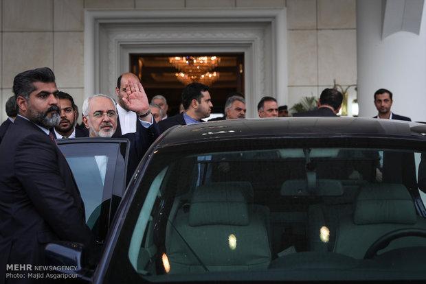 ورود محمد جواد ظریف وزیر امور خارجه به کویت