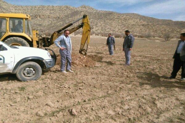 خلع ید عملی ۱۵ هزار متر مربع زمین در روستای کندهر اسلام آباد غرب