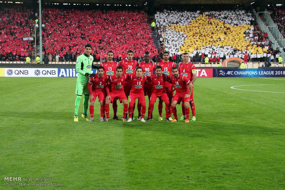 دیدار تیم های پرسپولیس ایران و نسف قارشی ازبکستان