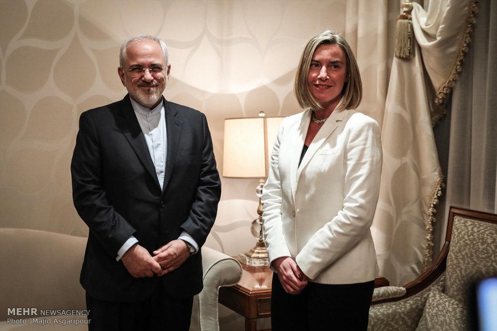 دیدار وزیر امور خارجه ایران با مسئول سیاست خارجی اتحادیه اروپا