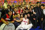 دیدار تیم های بسکتبال مهرام تهران و شهرداری تبریز