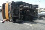 واژگونی کامیون در بجنورد یک کشته برجا گذاشت
