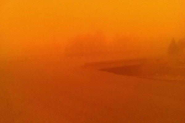 یزد ـ گرد و غبار