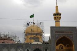 قبة ثامن الأئمة على اعتاب موعد مراسم الغسيل / فيديو