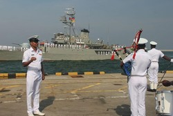 Iranian 50th Navy Flotilla docks at Sri Lanka port