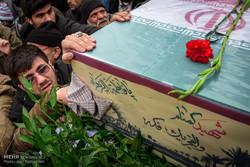 مراسم تشییع۲ شهید گمنام در دانشگاه تبریز برگزار شد