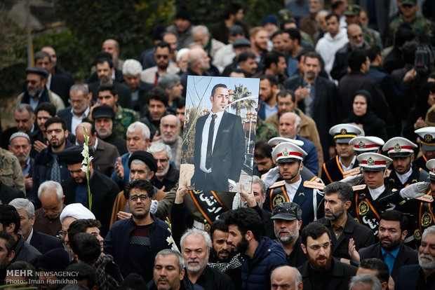 Funeral of three Iranian sailors