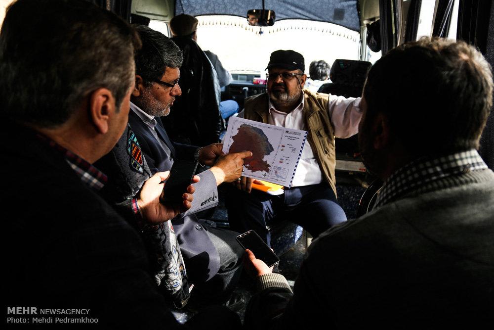 بازدید خبرنگاران از کانون فوق بحرانی ریزگردها