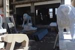 رونق سنگ تراشی در بام  ایران/ شیرهای سنگی جان گرفتند