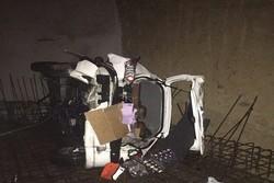 سقوط خودرو۲۰۶ به گودال ۱۲متری در ولنجک/راننده به شدت مصدوم شد