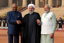 Ruhani, Hindistan'da resmi törenle karşılandı