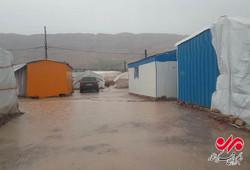 بارش باران سرپلذهاب و وضعیت زلزله زدگان