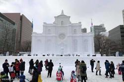 جاپان میں برفانی مجسموں کا فیسٹیول