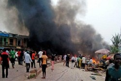 22 killed in suicide bombing in Nigerian market