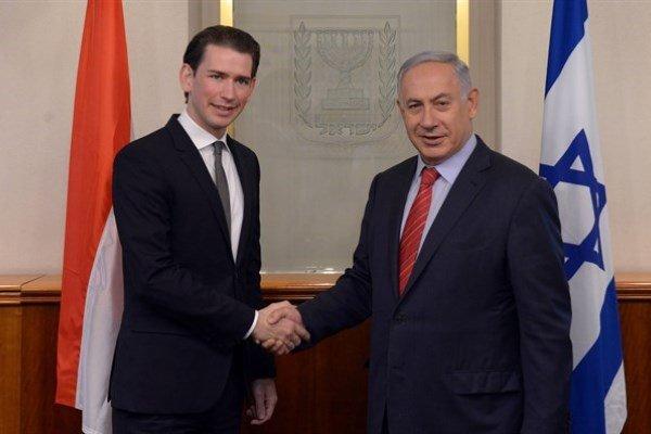 نتانیاهو: صدراعظم اتریش به مقابله با یهودستیزی متعهد است!