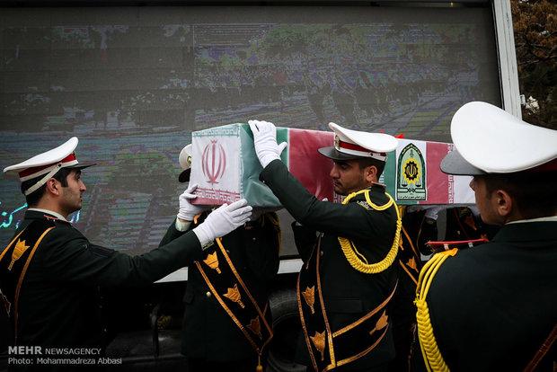 آئین تشییع 14 شهید تازه تفحص شده نیروی انتظامی