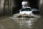 بارش شدید باران در ملایر و آبگرفتگی معابر