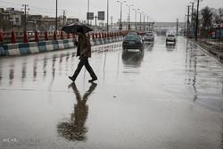 باران شدید و آبگرفتگی معابر در همدان