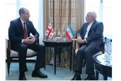 ایرانی وزیر خارجہ  کی جارجیا کے وزیر خارجہ سے ملاقات