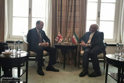 Zarif meets Georgian counterpart in Munich