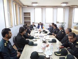 نشست فرماندار دشتی با نیروی انتظامی