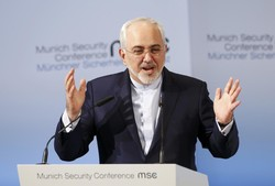 Iranian Foreign Minister Mohammad Javad Zarif delivers his speech during the 53rd Munich Security Conference in Munich, Germany, February 19, 2017.