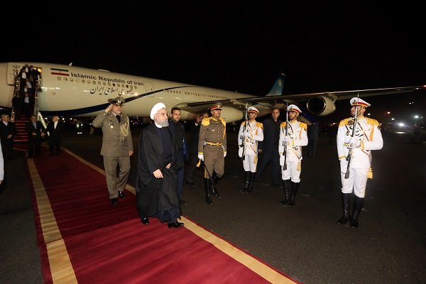 President leaves New Delhi for Tehran