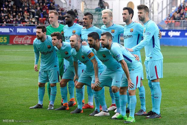 دیدار تیم های فوتبال ایبار و بارسلونا