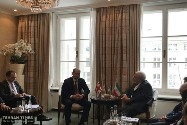 Zarif meets Georgian counterpart in Munich