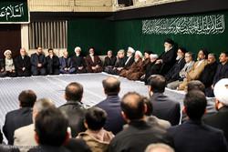 رہبر معظم کی موجودگی میں حضرت زہرا (س) کی شب شہادت کی مناسبت سے مجلس عزا