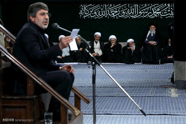 اليوم الثاني منمجلس عزاء الفاطمية بحضور قائد الثورة الإسلامية