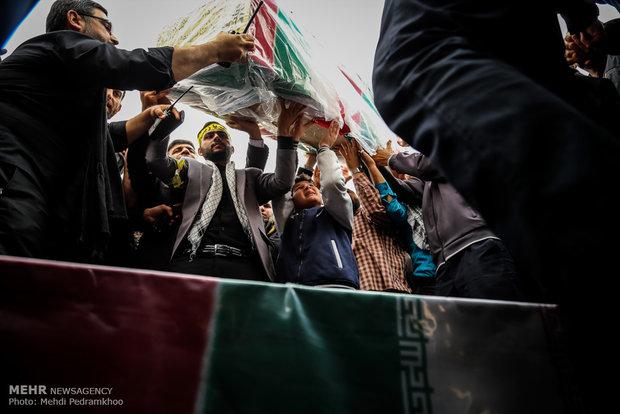 مراسم تشییع و تدفین دو شهید گمنام در دانشگاه پیام نور مرکز اهواز